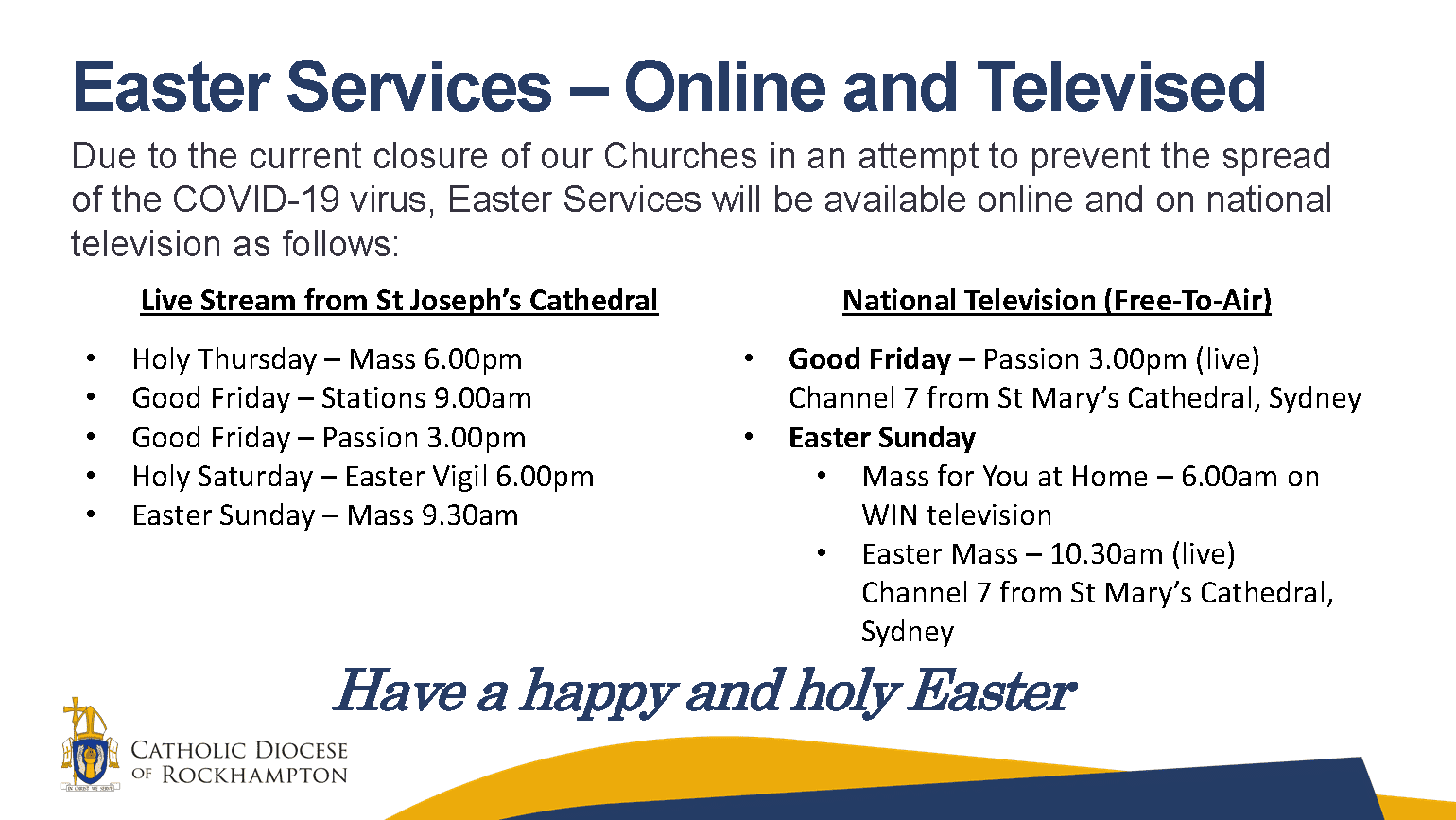 Easter Services - Online and Televised